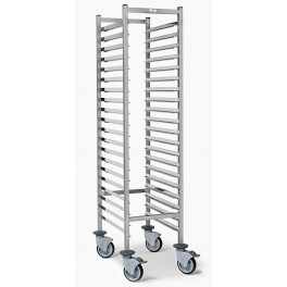 GN1/1 racking trolley - 20 levels - Space 67mm - Profile 325mm