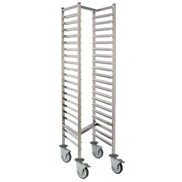 GN1/1 racking trolley - 20 levels - Space 75mm - Profile 325mm