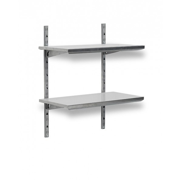 etagere murale modulable inox l800 mm bourgeat. Black Bedroom Furniture Sets. Home Design Ideas
