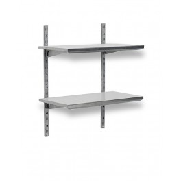 etagere murale modulable inox l1200 mm bourgeat. Black Bedroom Furniture Sets. Home Design Ideas