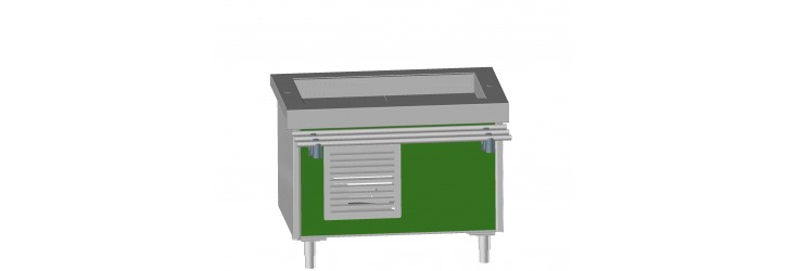 "Unit with ""ventilated refrigeration"" tank"