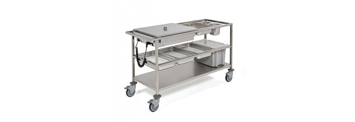 Door-to-door distribution trolley