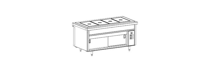 Water or air bain-marie tank