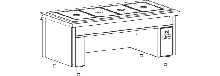 Air bain-marie tank - without heated cupboard