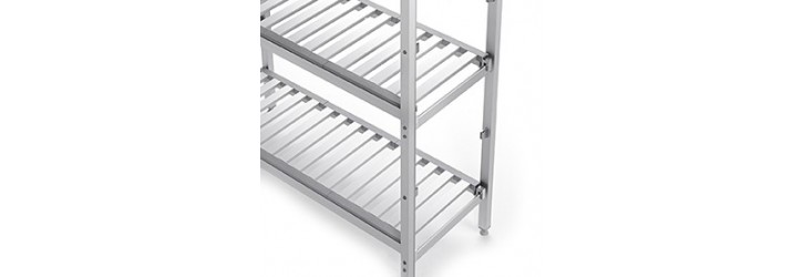 Ajacent racking runs at right angles - Depth 500 mm