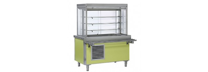 Units with ventilated refrigeration tank&display - OASIS