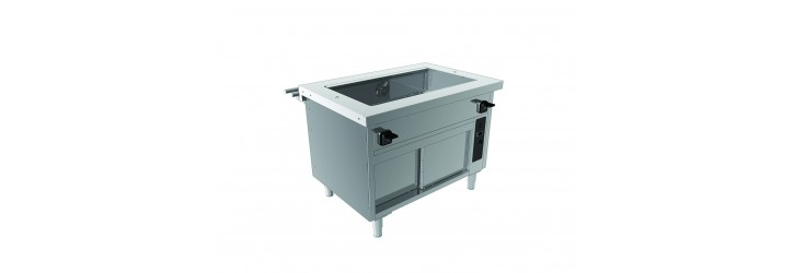Hot air bain-marie tank - with cupboard