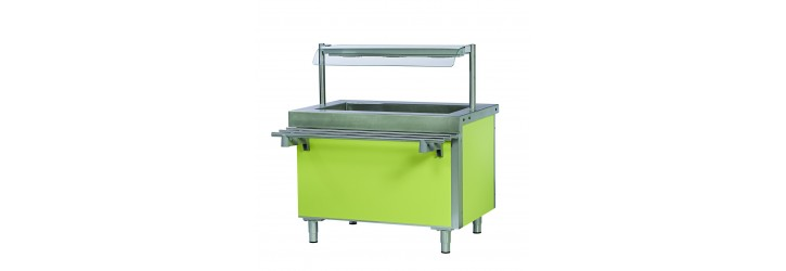 Hot water bain-marie tank - without cupboard