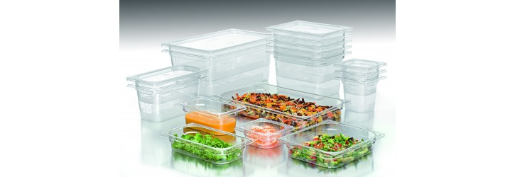 """Copolyester """"Cristal+"""" range - GN containers & lids"""