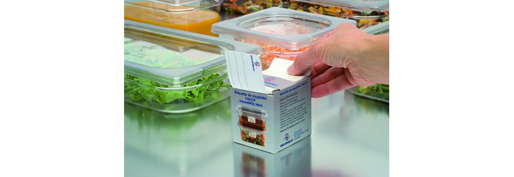HACCP identification labels for GN trays