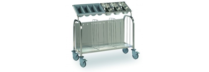 Trolleys for plates/cutlery - Low models