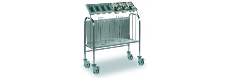 Trolleys f/plates&cutlery-heightened version