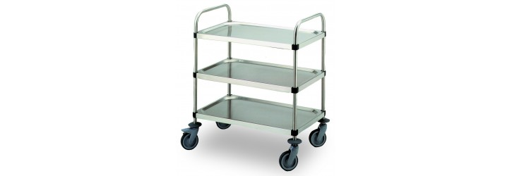 Flat-pack serving trolleys