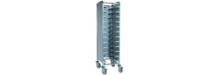 Single entry - for 12 trays with 3 side panels