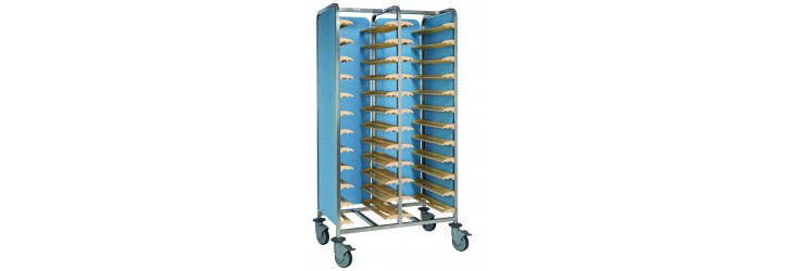 Back to back tray admission - for 24 trays mit 3 side panels