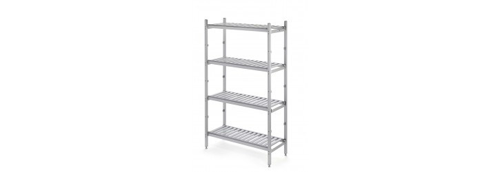Aluminium mobile racking - Aluminium shelves