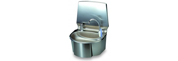 """Monobloc"" wash-hand basin - leg operated"