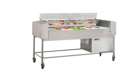 Taïga, refrigerated preparation table